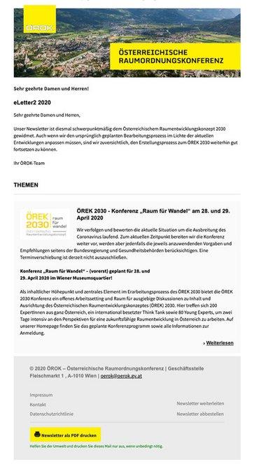ÖROK Newsletter