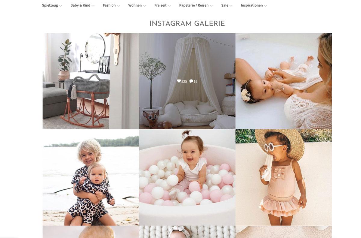 Shopware Onlineshop für balibu.ch - Instagram