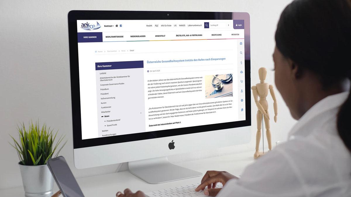 Ärztekammer für Oberösterreich / TYOP3 Website
