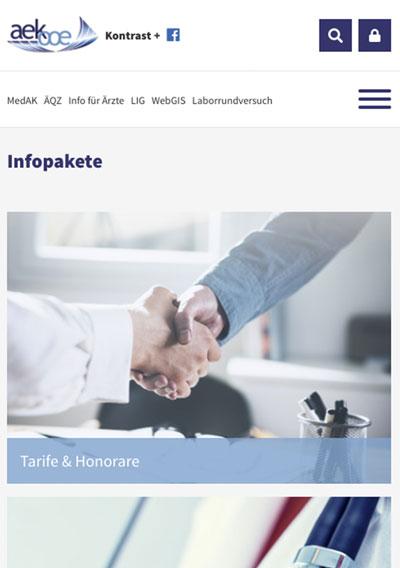 Ärztekammer für Oberösterreich / TYOP3 Website / responsive Website